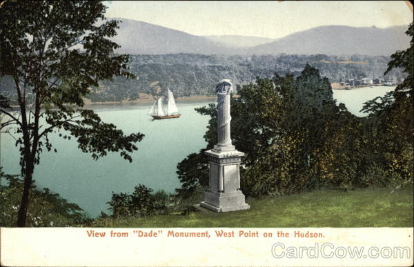 View from Dade Monument, West Point on the Hudson New York