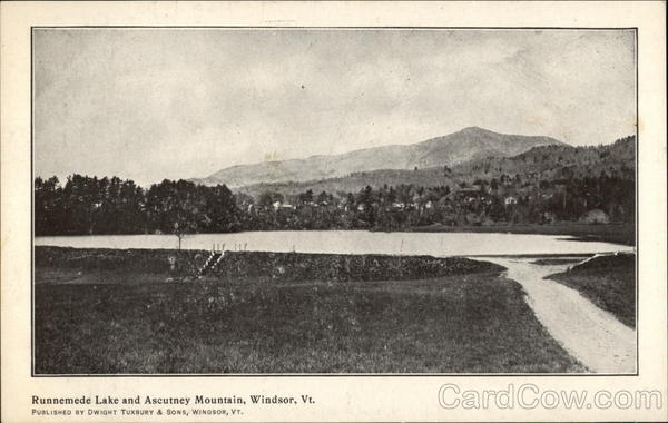Runnemede Lake and Ascutney Mountain Windsor Vermont