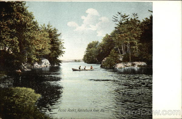 Scenic View of Picnic Rocks Kennebunk River Maine