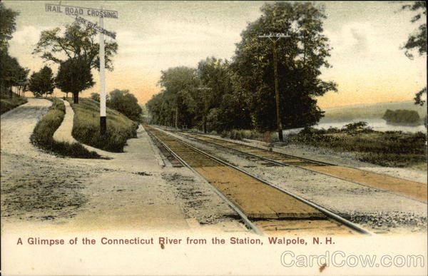 A Glimpse of the Connecticut River from the Station Walpole New Hampshire