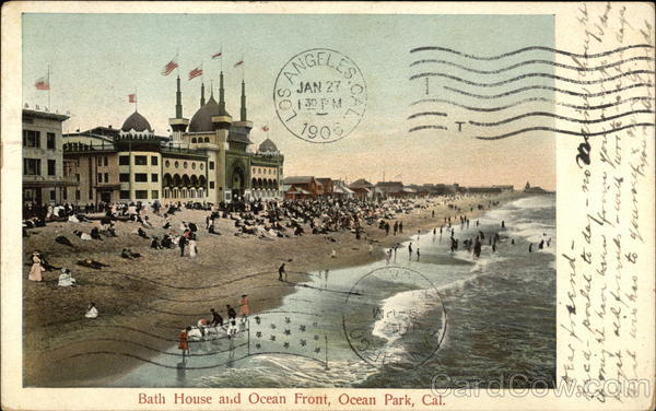 Bath House and Ocean Front Ocean Park California