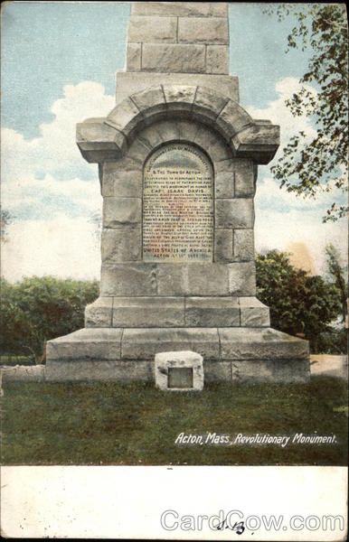 Revolutionary Monument Acton Massachusetts