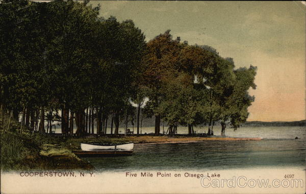 Five Mile Point on Olsego Lake Cooperstown New York