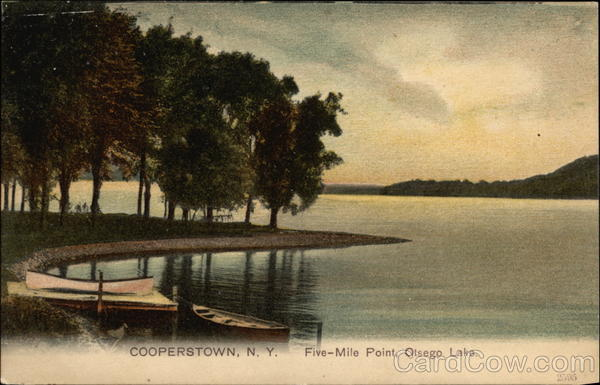 Five-Mile Point, Otsego Lake Cooperstown New York