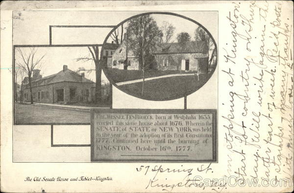 The Old Senate House and Tablet Kingston New York