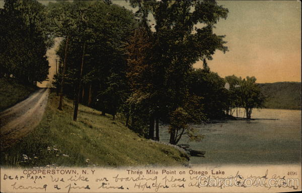 Three Mile Point On Olsego Lake Cooperstown New York