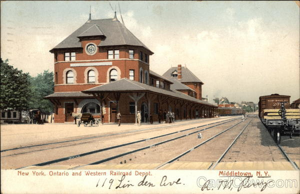 New York Ontario And Western Railroad Depot Middletown Ny