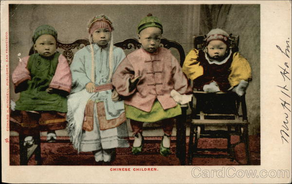 Four Chinese Children Asian