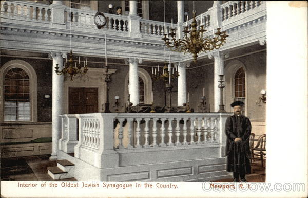Interior of the Oldest Jewish Synagogue in the Country Newport Rhode Island