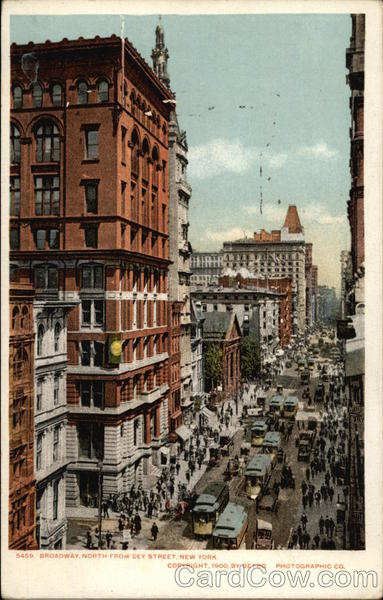 Broadway, North from Dey Street New York City