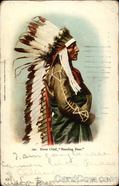 Sioux Chief, Standing Bear Native Americana