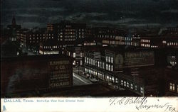Bird's Eye View from Oriental Hotel Postcard