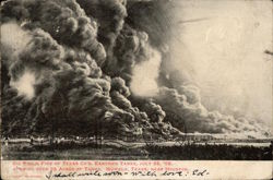 Oil Fields, Fire of Texas Co.'s Eastern Tanks, July 22, 1905