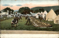 View of Men in Camp