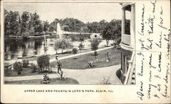 Upper Lake and Fountain in Lord's Park