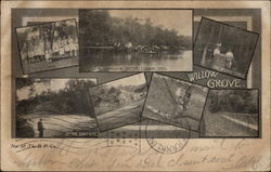 Views of Willow Grove Postcard