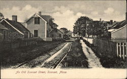 An Old Sconset Street Postcard
