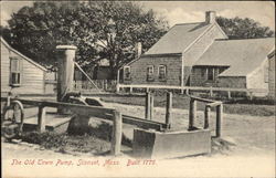 The Old Town Pump, Built 1776 Postcard