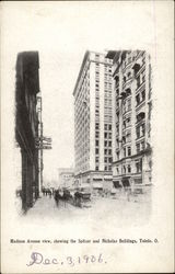 Madison Avenue showing Spitzer and Nicholas Buildings