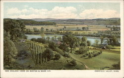 New England Views on Boston & Maine R.R. - Deerfield Valley