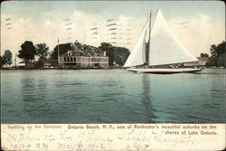 Yachting on the Genesee Postcard