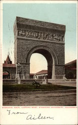 Stanford University - Memoria Arch, Looking West
