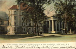 Congress Street Park, Russell Sage Hall & First Presbyterian Church