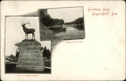 Elk's Monument and Wabash River
