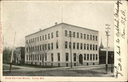 Knitting Works Building Postcard