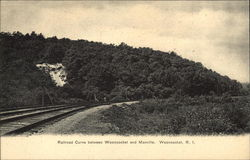 Railroad Curve Between Woonsocket and Manville