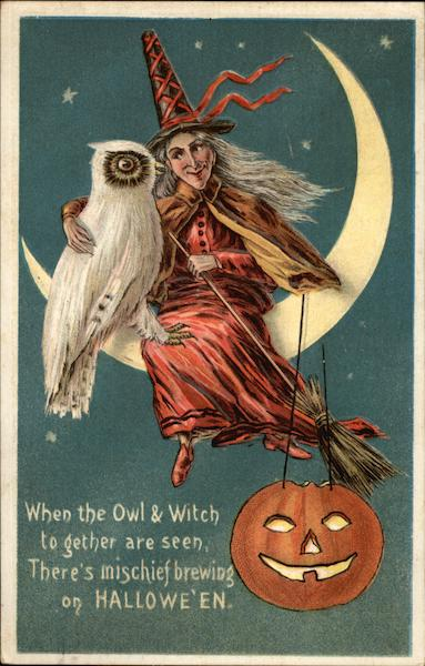 When the Owl & Witch Together are Seen, There's Mischief Brewing on Halloween
