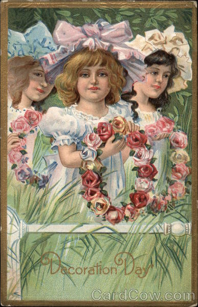 Three Girls With Flowers