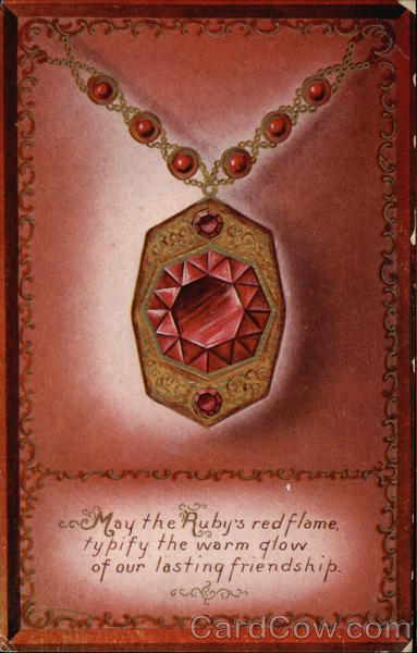 Red Stones Pendant Necklace Astrology & Zodiac