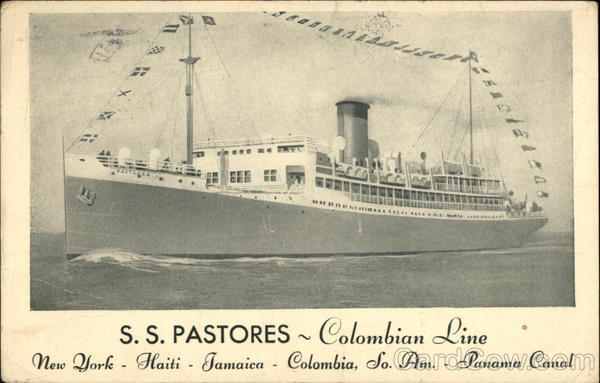 S. S. Pastores - Colombian Line Cruise Ships