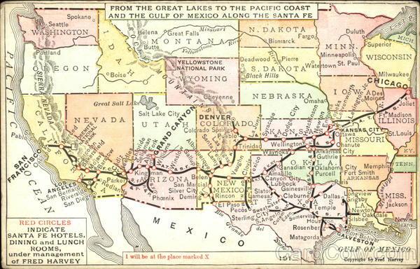 Map Of Santa Fe Railroad Maps