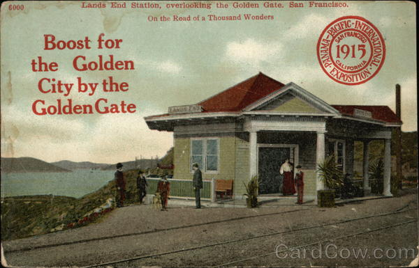 Lands End Station overlooking the Golden Gate, San Francisco