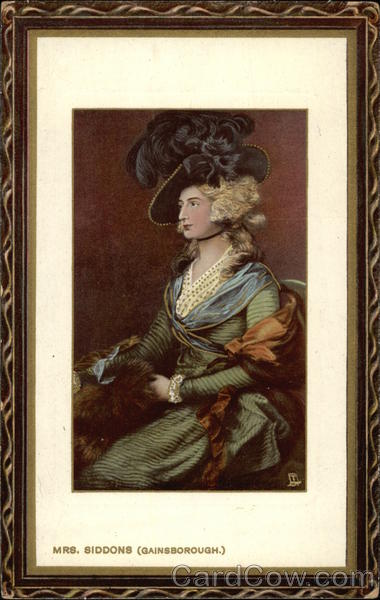 Mrs Siddons by Thomas Gainsborough Art