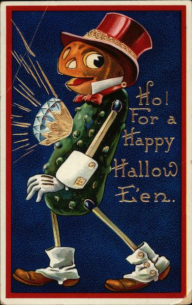 Ho! For a Happy Halloween Postcard
