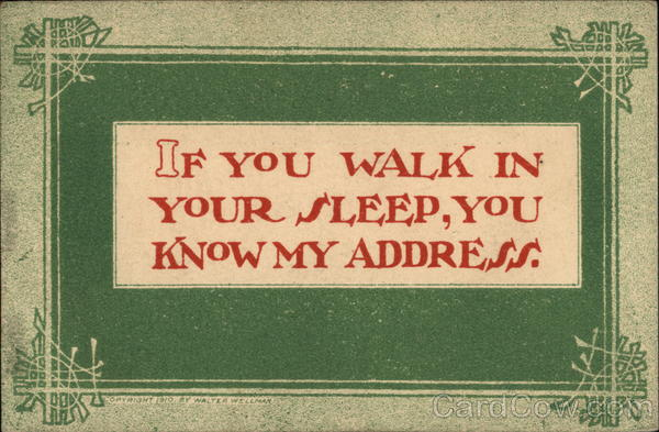 If You Walk in Your Sleep, You Know My Address Comic, Funny