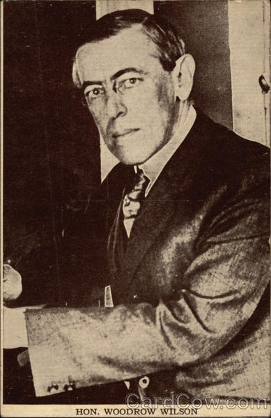 Portrait of Hon. Woodrow Wilson Presidents