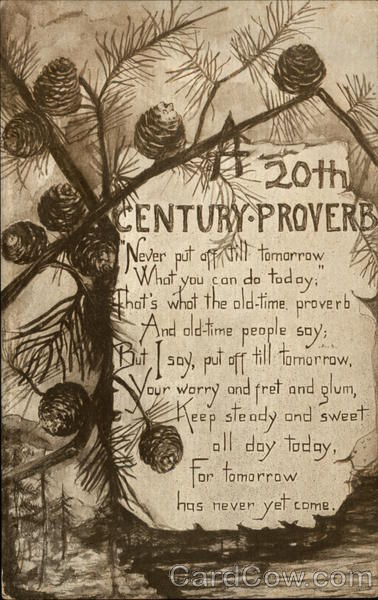 20th Century Proverb Phrases & Sayings