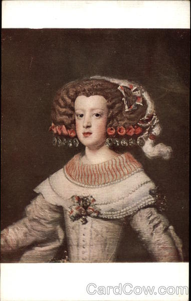 Portrait of the Infant Marie-Terese, Later Queen of France by Velasquez