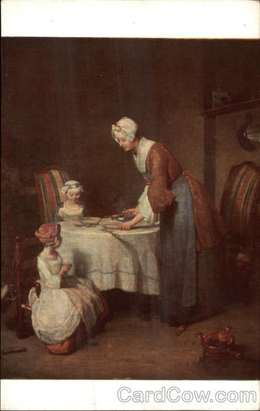 Grace Before Meal, Painting by Jean-Baptise-Francois Chardin