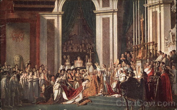 The Consecration of Napoleon by the Pope Pius VII at Notre Dame in Paris