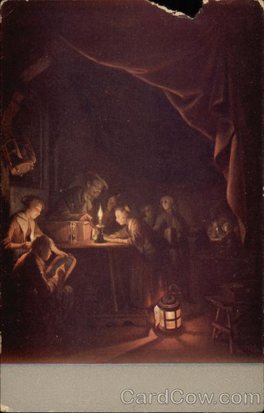 The Evening School, Painting by Gerard Dou Art