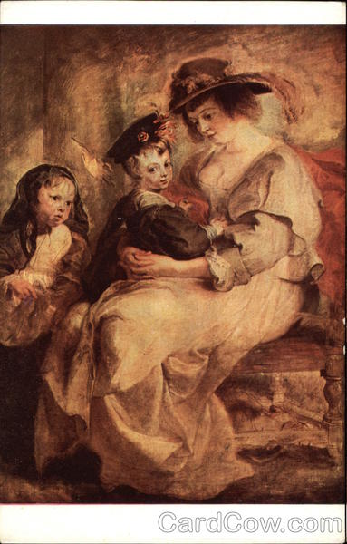 Portrait of Helene Fourment, Second Wife of Rubens and Her Children
