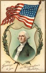 George Washington and the American Flag