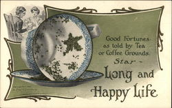 Good Fortunes as Told by Tea or Coffee Grounds. Star - Long and Happy Life