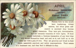 April Birthday with Diamonds & Daisies