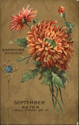 September Celebration, With Sapphire, for Success, and Aster Flowers